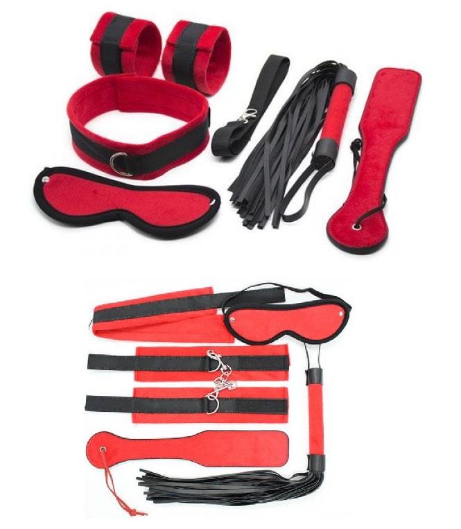 Piros bondage set,6db-os.