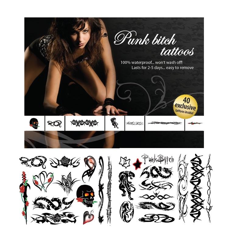 Tattoo Set - Punk Bitch-40db.