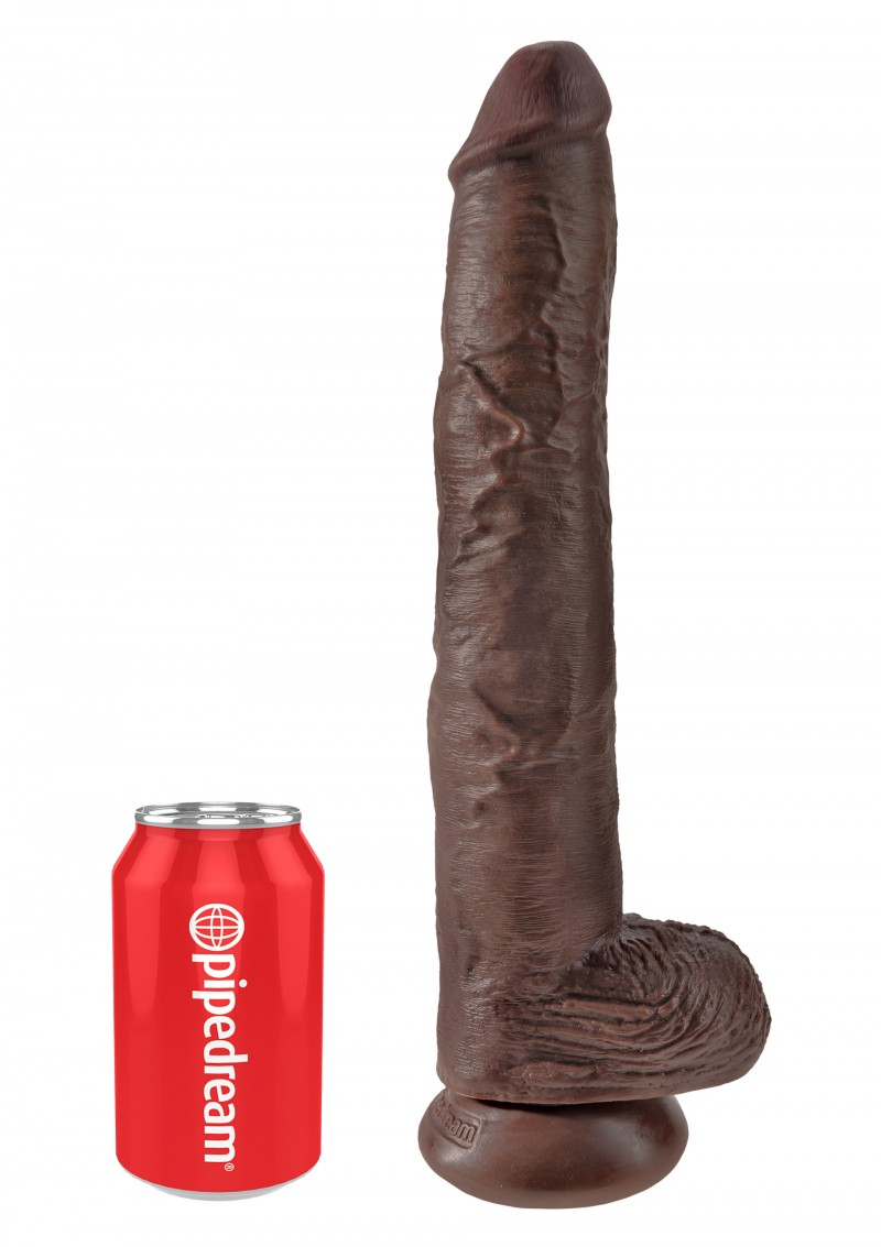 King Cock With Balls 35.5cm-barna.