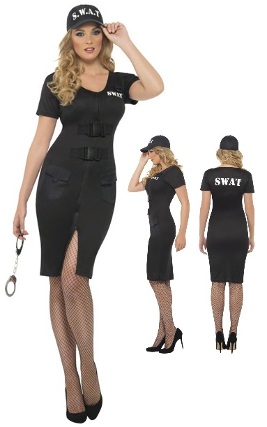 SWAT-női kommandós jelmez.