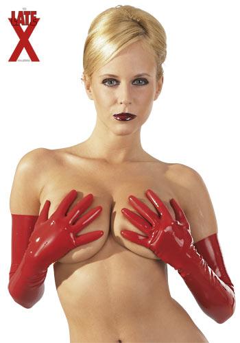 Latex kesztyű - vörös.