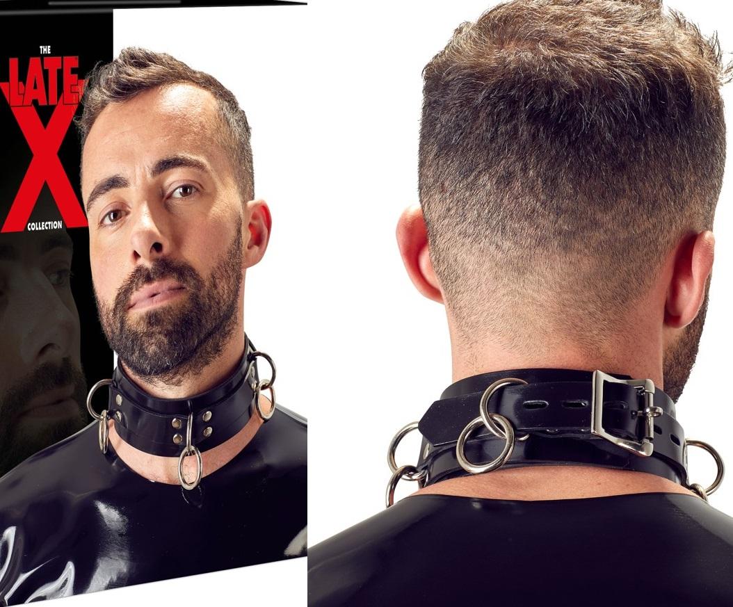 LATEX - latex, fém gyűrűs nyakörv.