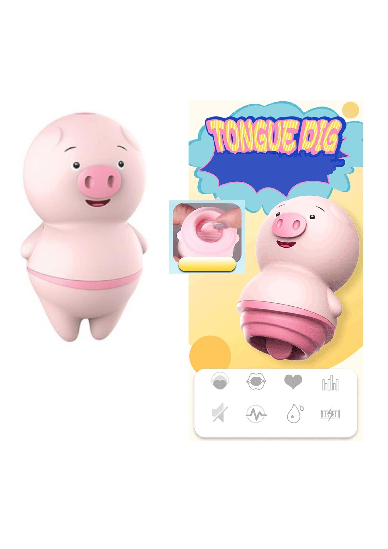 Pig-nyelv vibrátor,akkus,10func.