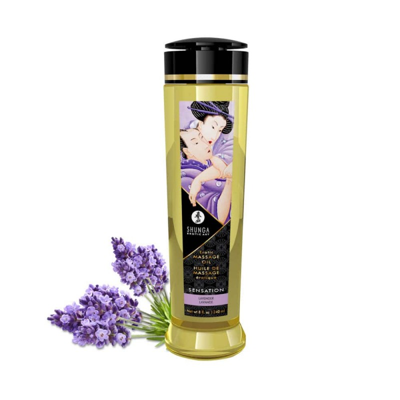 EROTIC MASSAGE OIL -LAVENDER,240ml.