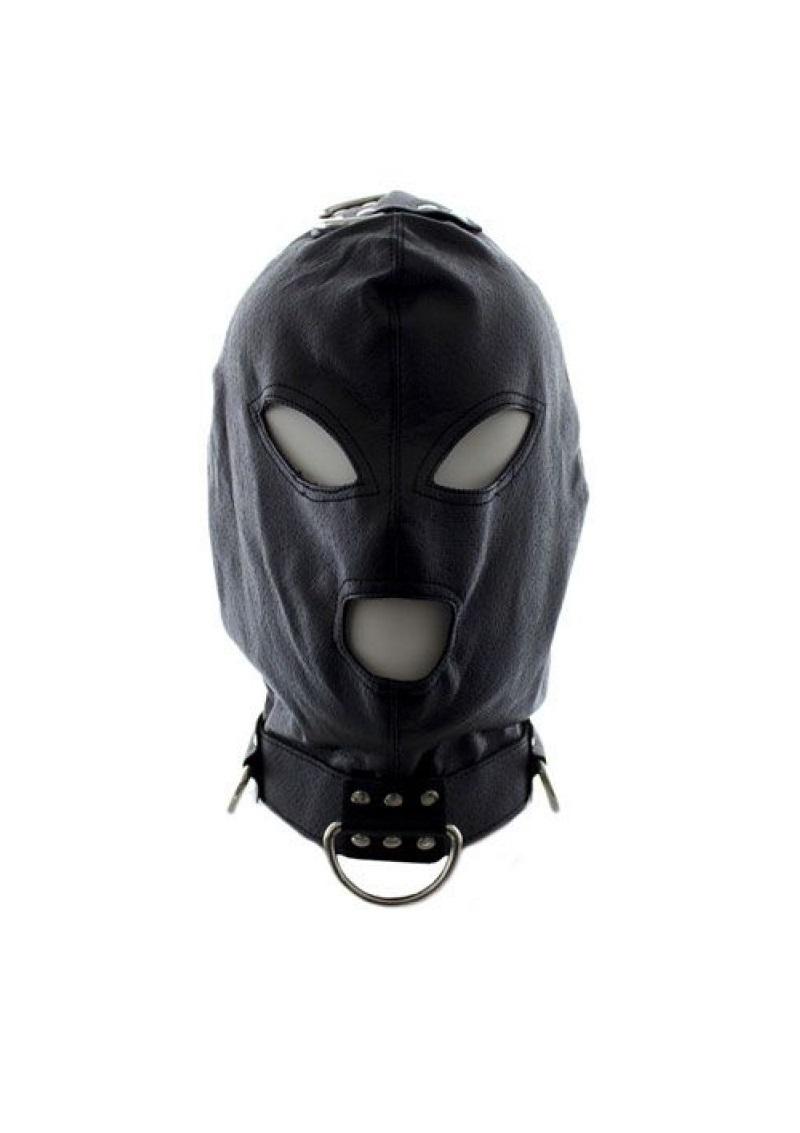Fűzős maszk karikás nyakpánttal.