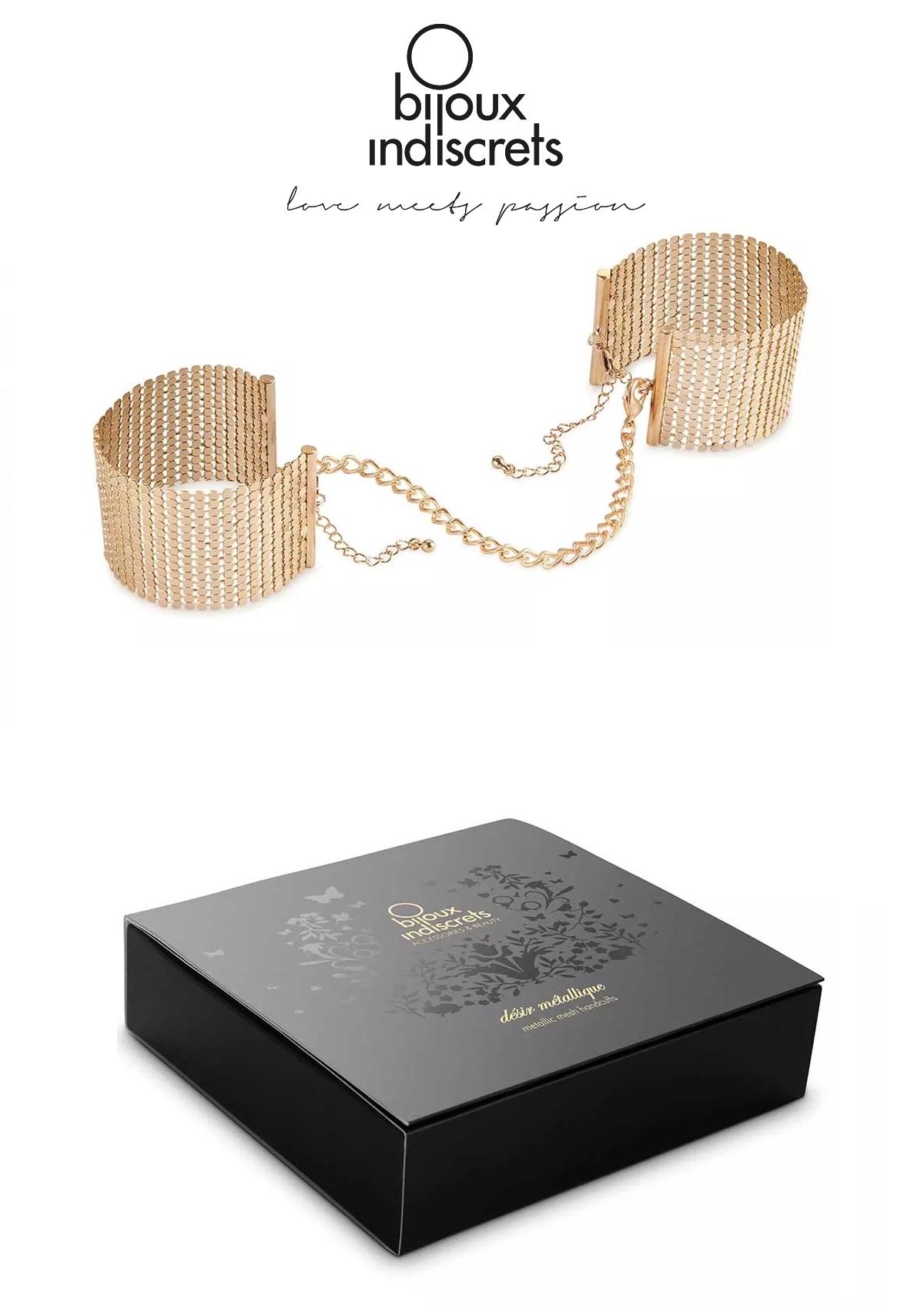 Desir Metallique Handcuffs Gold.