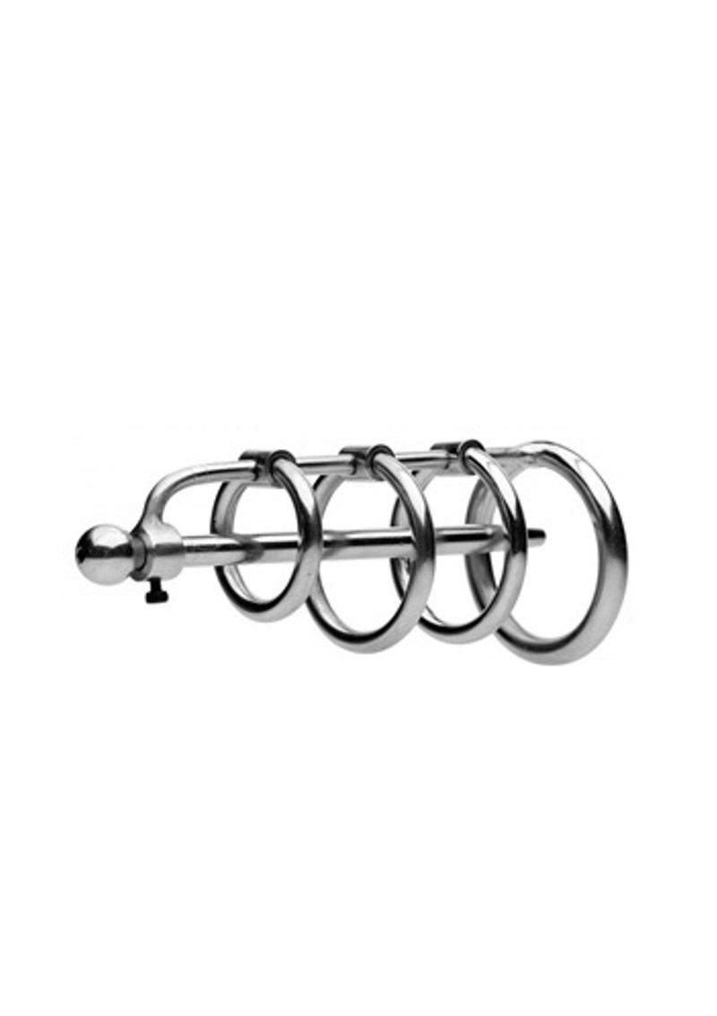 Pénisz katéter péniszgyűrűkkel-orvosi acél.