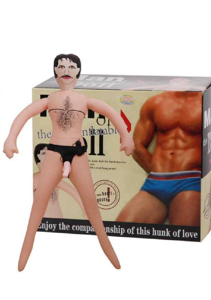 Man Doll -felcsatolható vibrátoros dildóval.