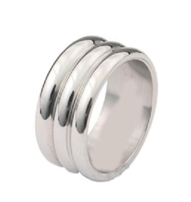 Elegance széles acél péniszgyűrű.