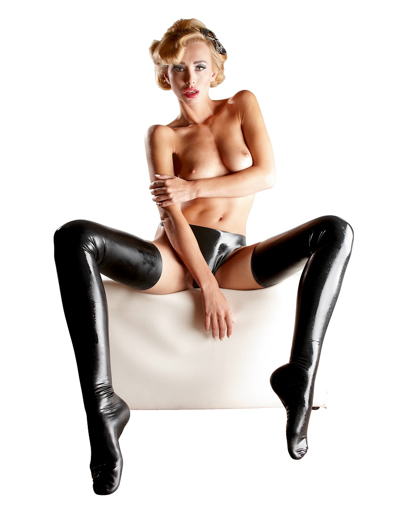 LATEX - női harisnya, fekete