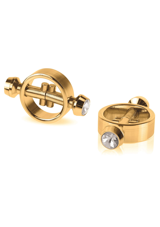 Fetish Fantasy Gold Aranyszínű mágneses fém mellbimbó szorítók.