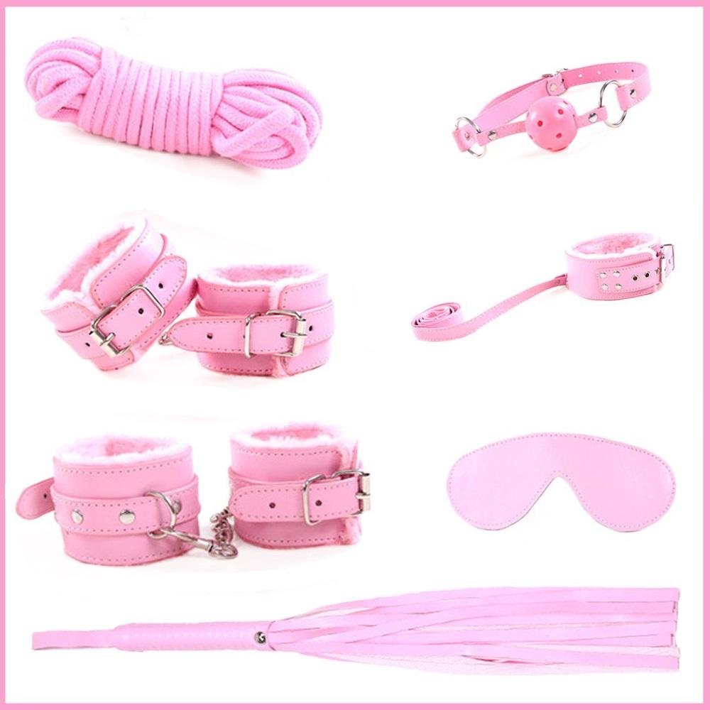 BDSM szett pink 8dbos.