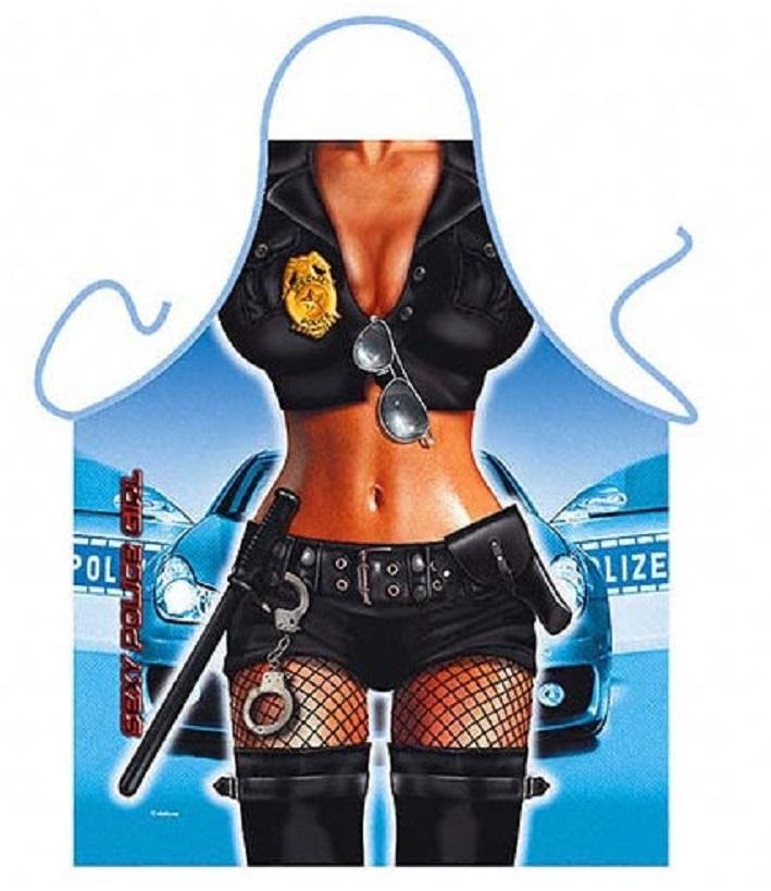 Sexi rendőrnő kötény.