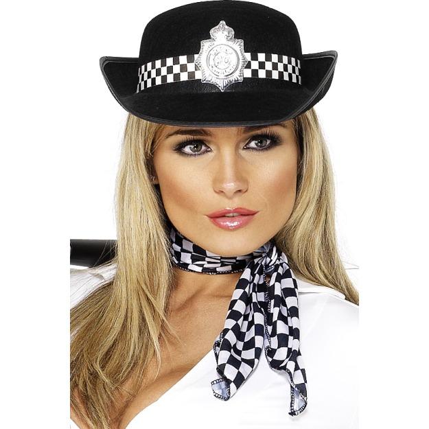 Női rendőr kalap.