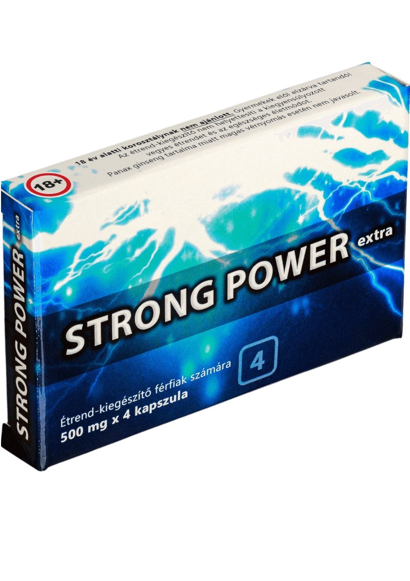 Strong Power Exta - étrendkiegészítő kapszula férfiaknak 4db.