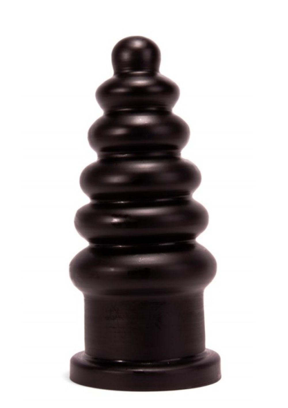Butt plug bordás,23cm-fekete.