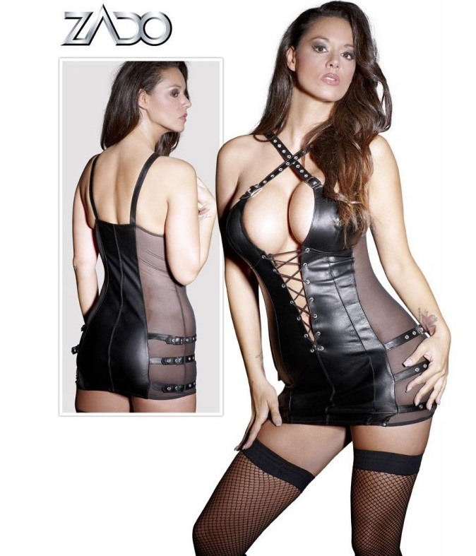 Zado fűzős női bőr ruha.